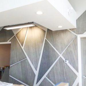 alternate shot of special effect finish on irregular wall tiles