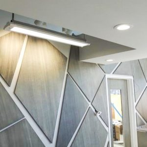 special effect finish; grey and black streaks on irregular-shaped wall tiles