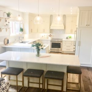 pigmented white cabinets in modern kitchen