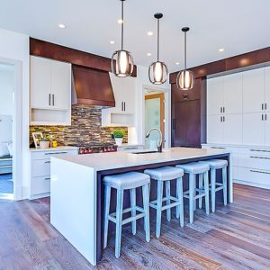 bright white cabinets with durable finish