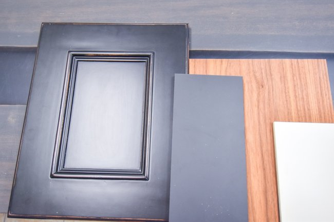 sample painted cabinet doors for client approval