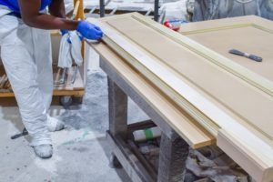 craftsman prepping mdf for finishing
