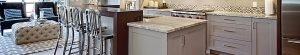 banner for kitchen cabinet refinishing showing grey pigmented cabinets